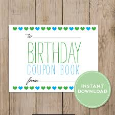 diy coupon book printable birthday coupon book editable pdf diy birthday gift husband wife boyfriend girlfriend mom dad daughter son birthday card