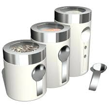 beautiful kitchen canisters set decor vintage round clear glass modern
