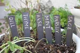 garden herb signs neoteric ideas custom herb or ve able labels handmade ceramic herb garden