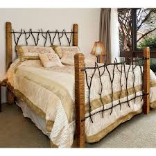 Rustic South Fork Wrought Iron and Wood Bed | Queen or King