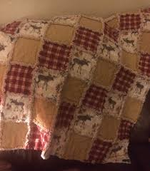 Love how this moose rag quilt turned out! Flannel rag quilt ... & Love how this moose rag quilt turned out! Flannel rag quilt, rustic quilt, Adamdwight.com