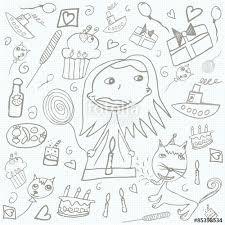500_F_85398534_XL8U2GJcMmz11506xOyZHYDVQIleMJej happy birthday scribbles doodles children's drawings\