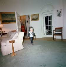 jfk oval office. John F. Kennedy, Jr., Walks Into The Oval Office, Wearing A Halloween Costume. President Kennedy\u0027s Personal Secretary, Evelyn Lincoln, Jfk Office N