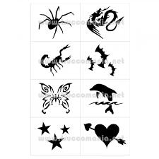 Stencil E Tattoo