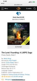 Love chaos seed books when is book 9 coming out? Love It Or Hate It The Land Is The Audible Deal Of The Day Litrpg