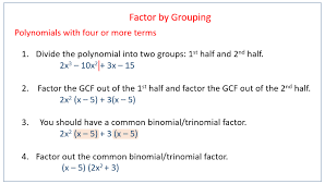 factor polynomial using grouping