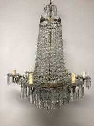 vintage italian crystal chandelier 1