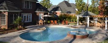 Backyard Swimming Pool Designs Fascinating Swimming Pool Charlotte NC Photo Gallery Landscaping Network