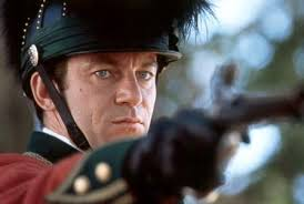 patriot the internet movie firearms database guns in a production image of colonel william tavington jason isaacs aiming a flintlock pistol at martin s son