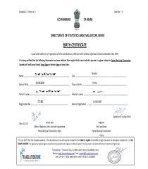 Certificate Templates Birth Translation Sample Blank Fresh