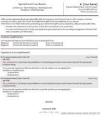 event management resume