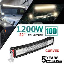 Cree Vs Led Light Bar Amazon Com Fidgetkute 10d 4 Row 22inch 1200w Cree Curved