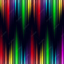 Who Owns Rainbow Light Abstract Rainbow Light Effect Electronic Wave Music Vector
