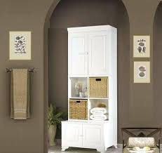 Tall Cabinet For Bathroom Tall Bathroom Storage Cabinet With Laundry