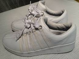 details about k swiss all white leather classic low athletic tennis shoe size 9 5 womens