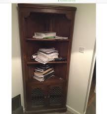solid wood corner shelves cabinet storage cupboard