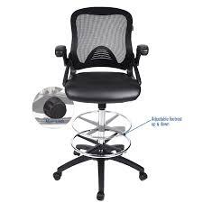 office drafting chair. Office Drafting Chair Mesh Back Adjustable Height PU Leather Funiture Seat Office Drafting Chair