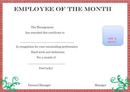 Free Employee Of The Month Certificate Template Delectable Elegant And Funny Employee Of The Month Certificate Templates Free