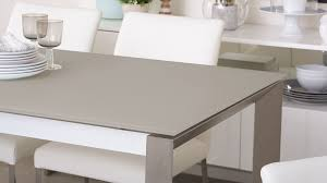 grey frosted glass dining table