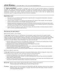 Leadership Skills Resume Examples Hflser Sample Resume Objective