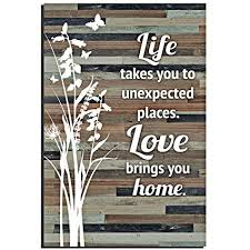 Love Plaques Quotes Simple Amazon Life Love Wood Plaque Inspiring Quotes 48x48 Inch