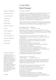 Retail Resume Template Free Retail Manager Resume Example Retail