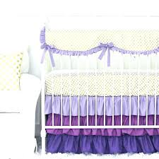 bright colorful crib bedding baby girl bedding purple and gold dot ruffle crib bedding set baby