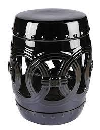 black garden stool. Modren Stool Abbyson Ellie Ceramic Garden Stool Black To Stool T