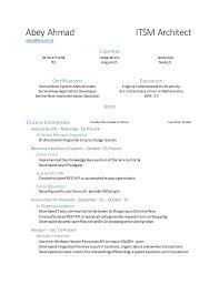 Resume Interesting Servicenow Developer Resume