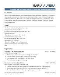 Emergency Services Functional Resumes