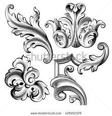 oval filigree frame tattoo. Vintage Baroque Victorian Frame Border Monogram Floral Ornament Leaf Scroll Engraved Retro Flower Pattern Decorative Design Oval Filigree Tattoo