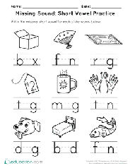 However, the qu digraph (letter combination) is addressed in beginner handwriting. Short Vowels Printable Worksheets Education Com