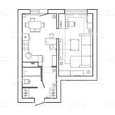 Standard Office Furniture Symbols On Floor Plans Stock Furniture Icons For Floor Plans