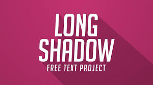 free after effects templates long shadow text free after effects project free after effects