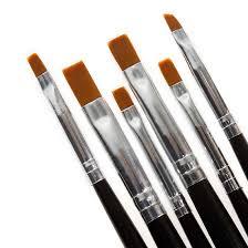 BMC 6pc Nail Art UV Gel Acrylic Salon Pen Painting Detailing Flat ...