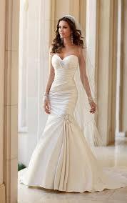 wedding dresses strapless fit and flare wedding dress stella york