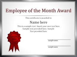 Best Employee Certificate Sample Impressive Employee of The Month Award and Certificate Template with 1
