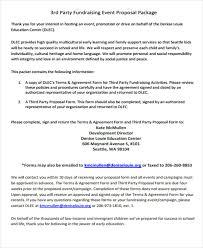 Party Proposal Gorgeous Proposal For Fundraising Bino48terrainsco