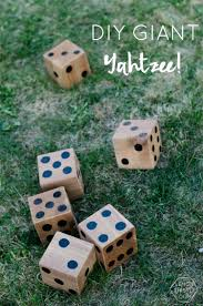 Diy Outdoor Games 5 Diy Yard Games Hours Of Fun Jenga Dominoes Yahtzee Lemon