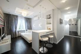 sparkling can lights and black wooden floor for modern 600 square feet house plans