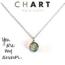 Necklace Chart Chart Jewelry Anchor Nautical Petite Necklace Custom Handmade 17 50 Ebay