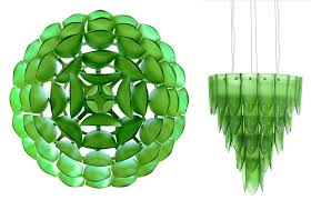 recycled glass chandelier photo beaded