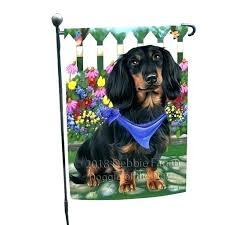 dog themed garden flags dachshund flag holiday spring fl long