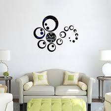 image of mirrored circles wall decor modern