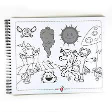 Amazon Zipit ジップイット シール付き 動く塗り絵book 学習帳
