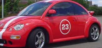 circular race car door number numbers decal decals vw 24 99