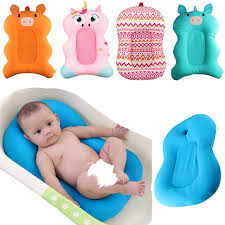 high quality anti skid baby bath mat foldable baby cartoon bath tub blooming bathing net