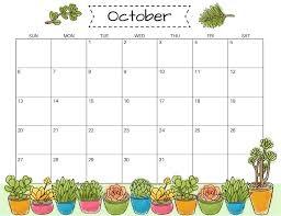 Calendar Template Online October 2019 Calendar Template Pdf Holidays Printable