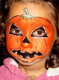face paint for kids with pumpkin painting