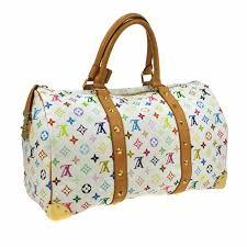louis vuitton overnight bag. louis vuitton \u2013 monogram multicolor keepall 45 weekend bag overnight e